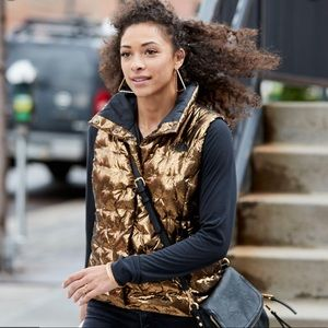 NWT* The North Face Holladown copper Metallic Vest
